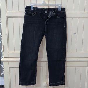 White House Black Market Blanc Cropped Jeans